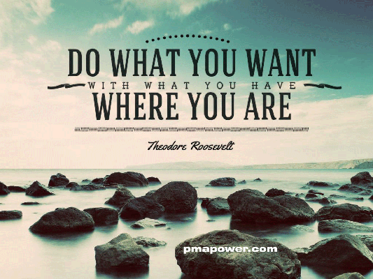 Do what you want with what you have where you are