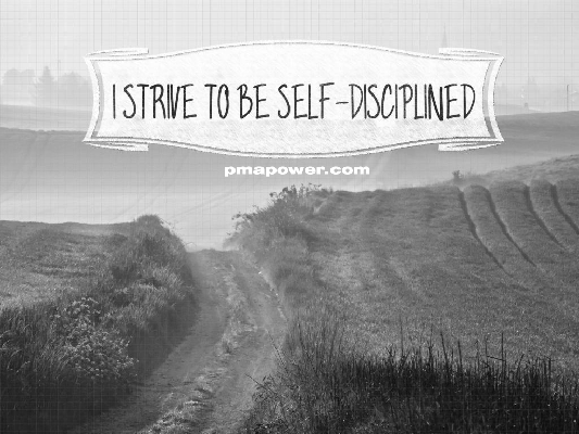 I strive to be self-disciplined