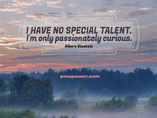 I have no special talent. I'm only passionately curious