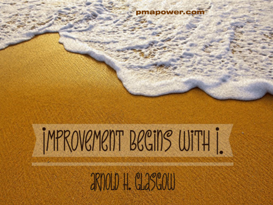 Improvement begins with I