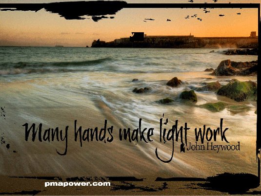 Many hands make light work