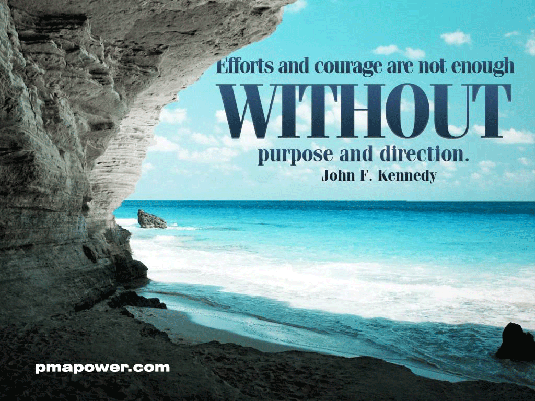 Effort and courage are not enough without purpose and direction