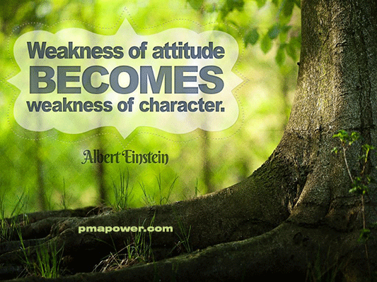 Weakness of attitude becomes weakness of character - Albert Einstein