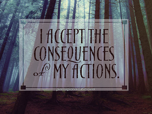 I accept the consequences of my actions - pmapower.com