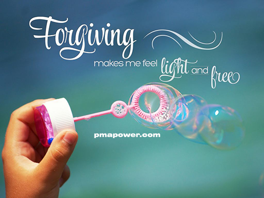 Forgiving makes me feel light and free