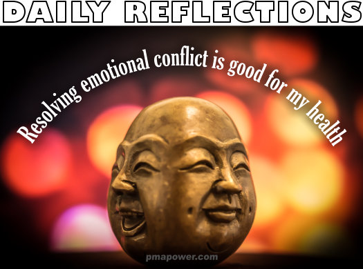 Resolving emotional conflict is good for my health
