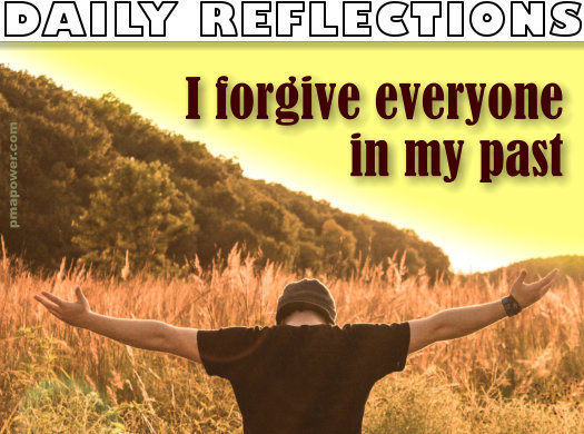 I forgive everyone in my past
