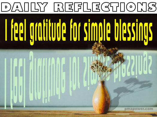 I feel gratitude for simple blessings