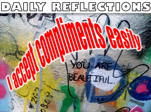 I accept compliments easily    - pmapower.com