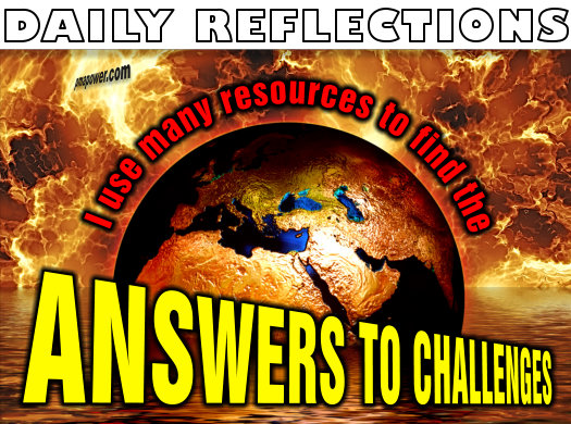 I use many resources to find the answers to challenges