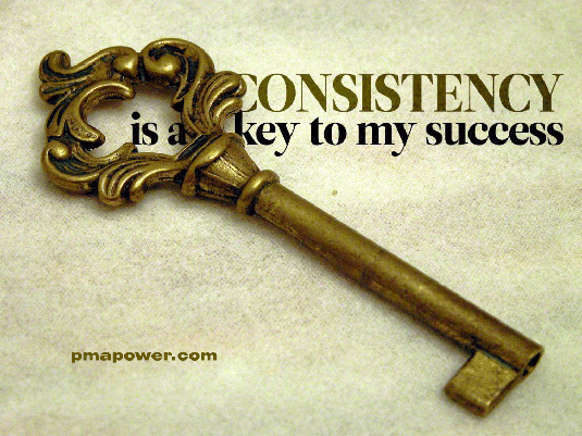 Consistency is a Key to My Success