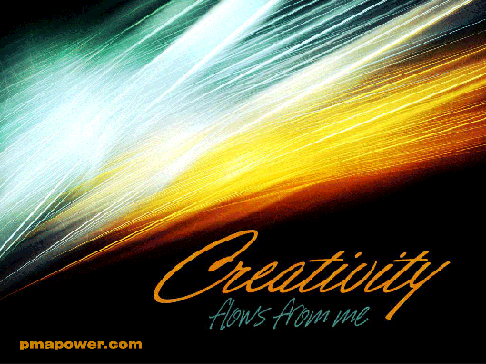 Creativity flows from me